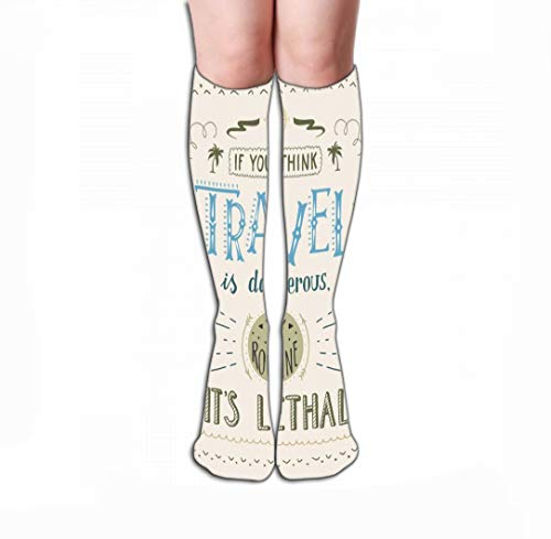 Jiuyiqiw4 Hohe Socken Compression Socks 19.7