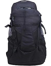 Zwart 32 Ltrs Black School Backpack (RHOMROV-BLK)