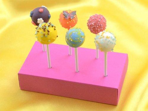 Lolli-Tray 6er pink (Pink Cake Pop-ständer)