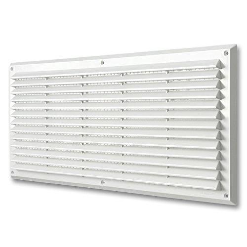 La Ventilazione AR5023B Griglia Plastica Rettangolare da Sovrapporre, Bianco, 500 x 227 mm