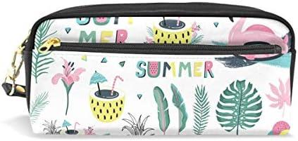 Tropical Summer Flamingos Trousse Boîte avec compartiHommes ts avec avec avec fermeture Éclair pour enfants filles garçons Sac de maquillage Cuir B07KM3C2MR | Merveilleux  a4f03e