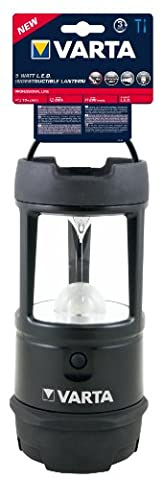 Varta 5 Watt LED Indestructible Lantern 3x D Batteries 3D Flashlight Lantern Camping lamp Camping lantern Outdoor lantern Gardenlamp Garden light Camping light; robust (drop test 4m) and water resistant (IPX7) housing for camping, fishing, power