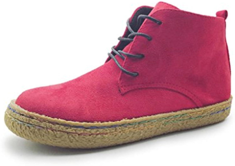Manadlian_Botas Botas, Manadlian Mujeres Botas Planas y Suaves Martin Zapatos Ante de Mujer Botas con Cordones