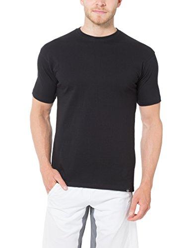 Ultrasport Herren Sport Freizeit T-Shirt mit Rundhalsausschnitt 5er Set Schwarz