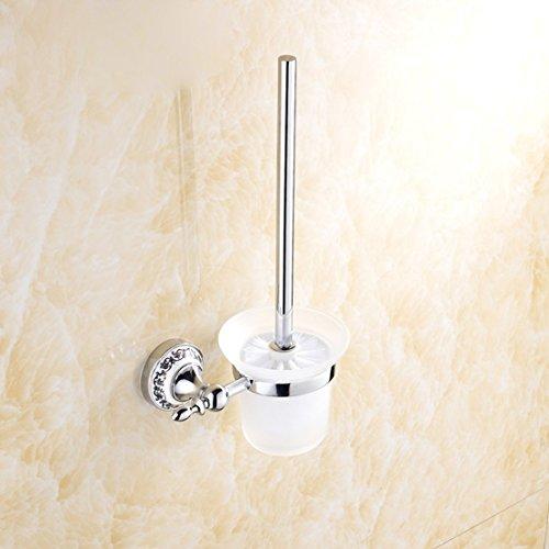 XXN-Stampa in alluminio satinato base vetro inox spazzola per WC