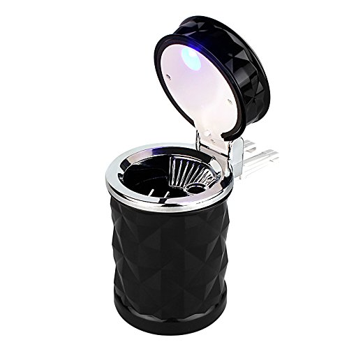 Cenicero coche luz LED coche clip rejilla ventilación