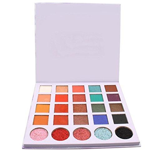 Fards à paupières,Cosmétiques fard à paupières 25 couleurs yeux ombre maquillage cosmétique scintillement palette ombre à paupières maquillage ensemble par LHWY