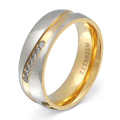Juwelier Schönschmied - Damen Titanringe Verlobungsring Trauring Almada Titan Zirkonia inkl. persönliche Wunschgravur 58 (18.5) NrT11D
