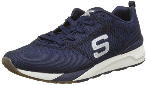 Skechers OG 90-Cozine, Zapatillas de Entrenamiento para Hombre, Azul (Navy/Black), 42 EU
