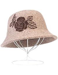 LJY hat Sombrero Gorro de Invierno Gorro de Invierno de Mediana Edad Cálido Gorro de Abuela (Color : B)