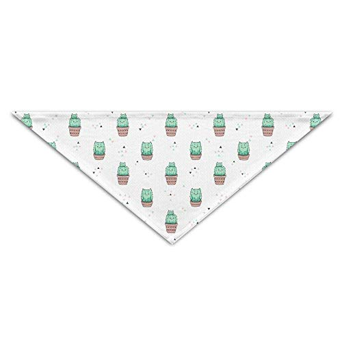 Sdltkhy Cute Cactus Cat Triangle Pet Scarf Dog Bandana Pet Collars Dog Cat - Birthday