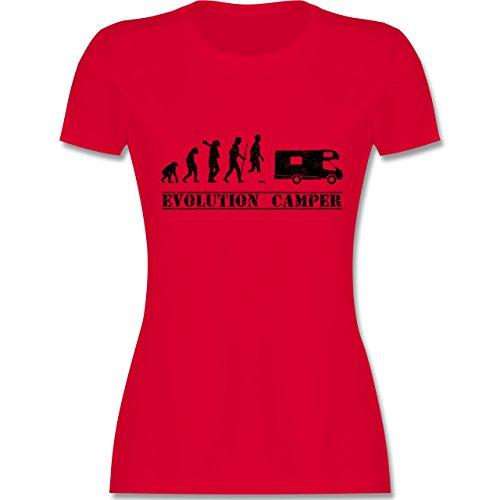 Evolution - Evolution Camper - Damen T-Shirt Rundhals Rot