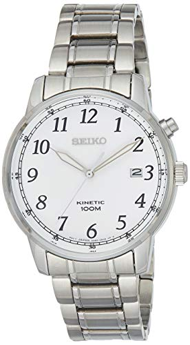 Seiko Hommes Analogique Cinétique Montre avec Bracelet en Acier Inoxydable SKA775P1