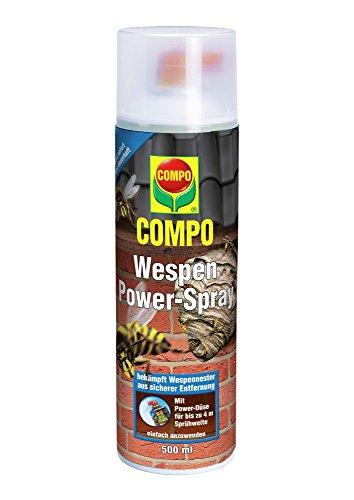 *COMPO Wespen Power-Spray, Insektizid gegen Wespennester der Deutschen und Gemeinen Wespe, 500 ml*