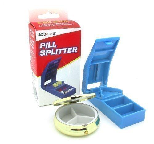 Acu-Life Deluxe Pillen Splitter mit Gratis Messing Pillendose
