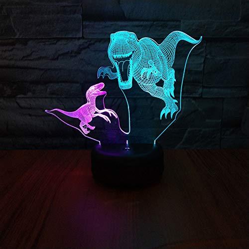Top qualität 3d mischfarbe lampe 7 farben ändern baby kind touch nachtlicht tier dinosaurier tischprojektion led geschenk lampe