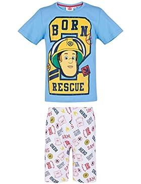Sam el bombero Chicos Pijama mangas cortas - Azul