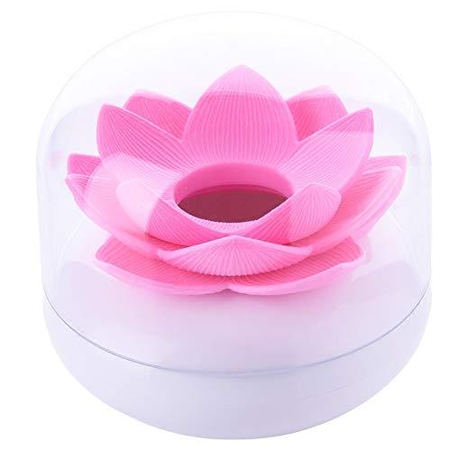 Da.Wa Wattestaebchen Lotus Blumen Zahnstocherspender Cotton Swab Box Halter Aufbewahrung,8x8cm Cotton Ball Holder