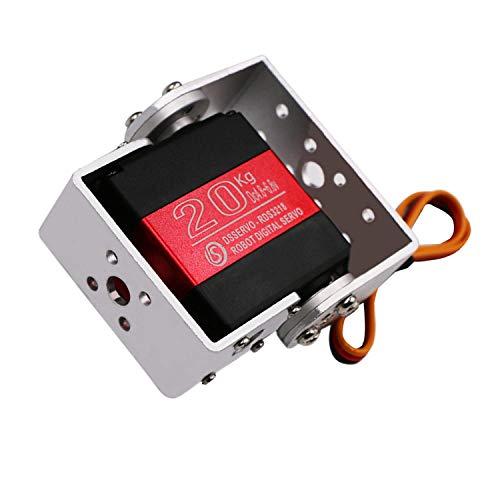 DS3218 20KG 270 Grad U Montieren RC Digital Servo - Wasserdicht Robot Motor Arm Servo - High Torque Vollmetallgetriebe Servo mit U Halterung für RC Roboterarm Modell DIY Baja Car 1/10 Scale Crawler -