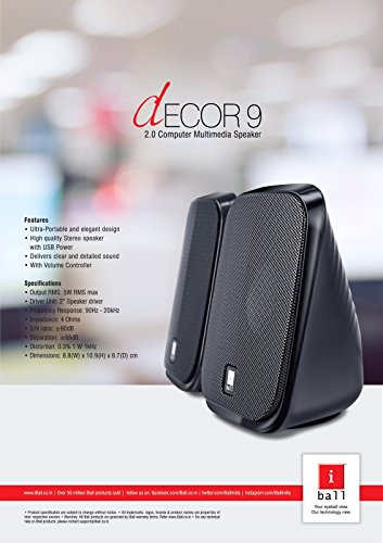 iBall Decor 9 Multimedia Speakers (Black)
