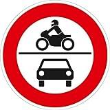 Verkehrszeichen VZ260, Verbot für Krafträder, ... sowie für Kraftwagen..., Alu, RA1, Ø 42cm...