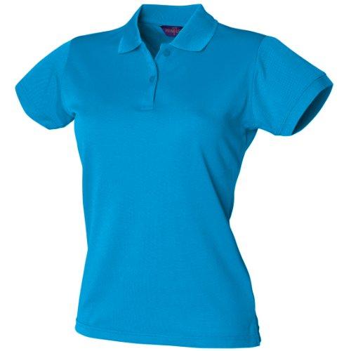 Polo forme ajustée évacuant l'humidité Henbury Coolplus® pour femme Bleu - Sapphire Blue