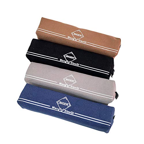 Mibuy Canvas Federmäppchen 4 Stück Abschnitt Bleistiftbeutel Reißverschlusstasche Schreibwaren Tasche Tragbare Federtasche Stifthalter Verschleißfest Aufbewahrungstasche (#3, 19.5 * 4 * 3.5cm) -