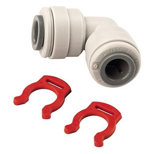 Xavax Verbindungsstück (für Kunststoffrohre 1/4 Zoll, ideal für Side-by-Side Kühlschränke) gewinkelt -