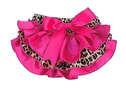 DELEY Baby M/ädchen Unterw/äsche Leopard R/üsche Hose Pumphose Windel Decken