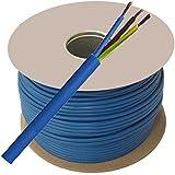 Arctic Cable 100 Meter Coil 1.5mm Artic Metre Blue 230 v 240 Volt 3 Core 13 Amp to 16 Amp M Extension Reel