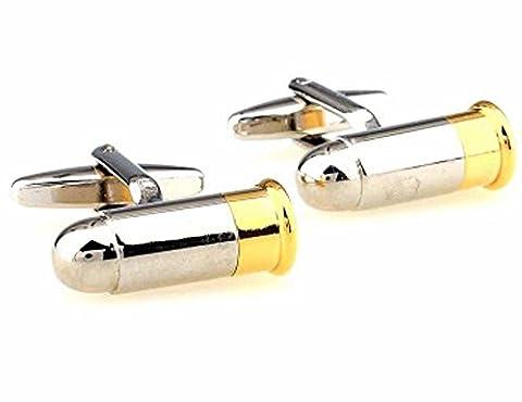 korpikus® Silber & Gold Farbe ' Kugel ' Thema Edelstahl-Manschettenknöpfe Im Freier Geschenk-Beutel