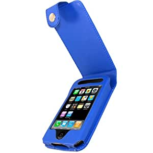iGadgitz Leather Case for Apple iPhone 3 GS Blue - Blue