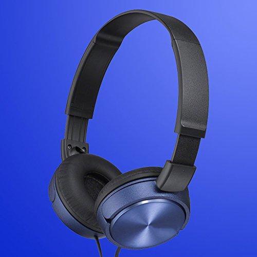 Aedp-headset Circumaural Kopfhörer Bassmusik für Jungen und Mädchen Mobilcomputer Universal (blau) Circumaural Gaming-headset