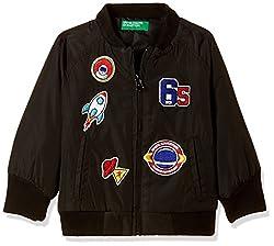 United Colors Of Benetton Boys Jacket (17A2JACKZ017I100XL_Black)