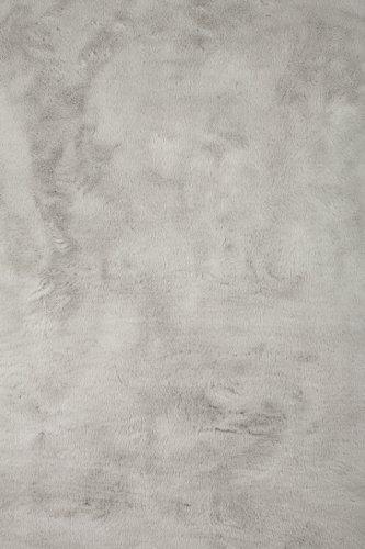 Pilepoil  - Alfombra, color gris  140 x 200 cm - piel artificial - Fabricado en Francia