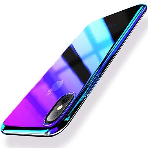 Verco Farbwechsel Hülle für iPhone X/XS, Schutzhülle Handy Cover mit Farbverlauf Slim Case [5,8 Zoll], Violett Iphone-gadget