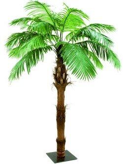 Phönixpalme mit Palmfaserstamm 2,10m, Kunstpflanze