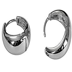 JaisBoy Kaju Bali Hoop Men's Pierce Ear Studs Salman Khan Inspired Silver Colour Kaju Bali Earring For Men & Boys