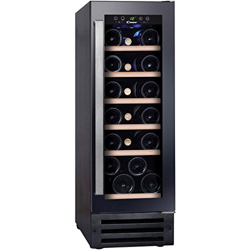 Candy CCVB30 Built-In B Rated Wine Cooler in Black/Glass