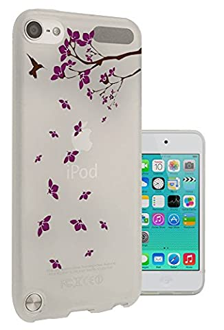c1100 - Cool Humming Bird Falling Leaves Flowers Summer Spring Design Apple ipod Touch 6 Fashion Trend Protecteur Coque Gel Rubber Silicone protection Case Coque
