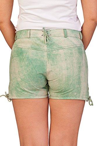Trachten Damen Lederhose kurz - PANKA - grün Grün