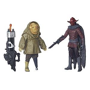 Star WarsEl Despertar de la Fuerza Figuras de Sidon Ithano y Primer Oficial Quiggold, 9,53cm, 2 Unidades
