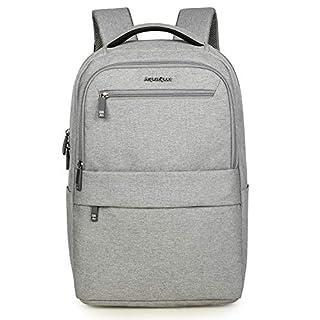 Aspen Business Rucksack für 15.6 Zoll Laptop mit Gepäckriemen Modern Design Computer Backpack Schultasche Herren und Damen Wasserdicht 25-30 L AS-B65 Grau