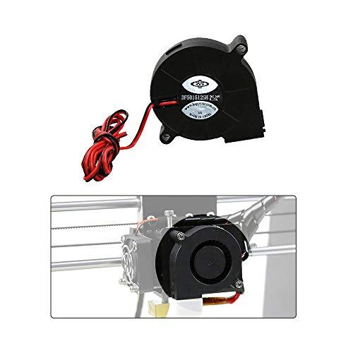 Anet 3D Printer Parts Lüfter, Kühlung, Radialventilator, Kühlung, 12 V Gleichstrom, 50 mm, Hot End Extruder für RepRap i3 3D-Drucker Zubehör (2 Stück/Set)