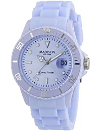 Pastell Blaue Madison New York Candy Time Unisex Armbanduhr