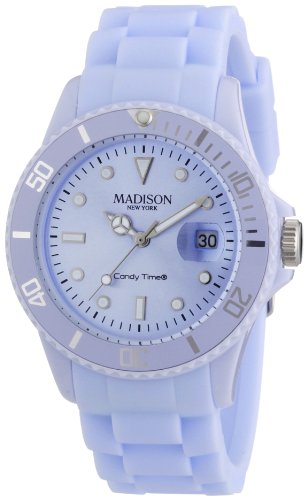 Pastell Blaue Madison New York Candy Time Unisex Armbanduhr
