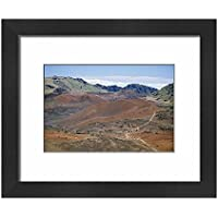 Framed 10x8 Print of Foot trail through Haleakala volcano crater winds between (1211955)