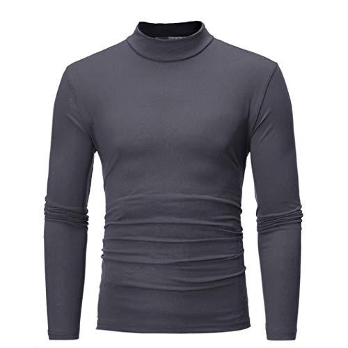 MRULIC Herren Pullover Sweater Kapuzenpullover Sweatjacke Hoodie Sweatshirt (Dunkelgrau,EU-52/CN-3XL)