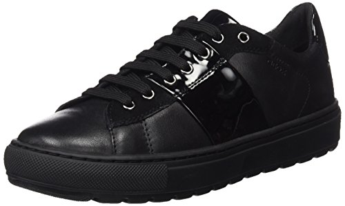 Geox D Breeda H, Baskets Basses Femme Schwarz (BLACKC9999)
