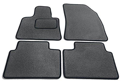 Preisvergleich Produktbild JediMats 16015 Korfu Maßgeschneiderte Fußmatte für Ihr Auto, Schiefer, Schwarz Umrandung